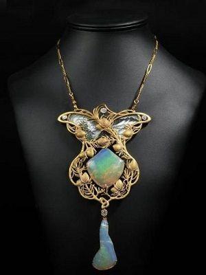 ожерелье с опалами