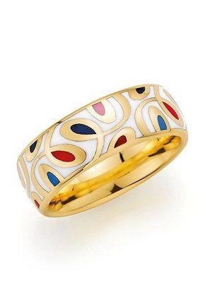 кольцо с цветными узорами
