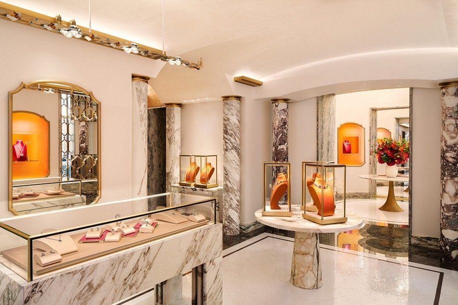 Интерьер нового магазина Bulgari на Вандомской площади в Париже