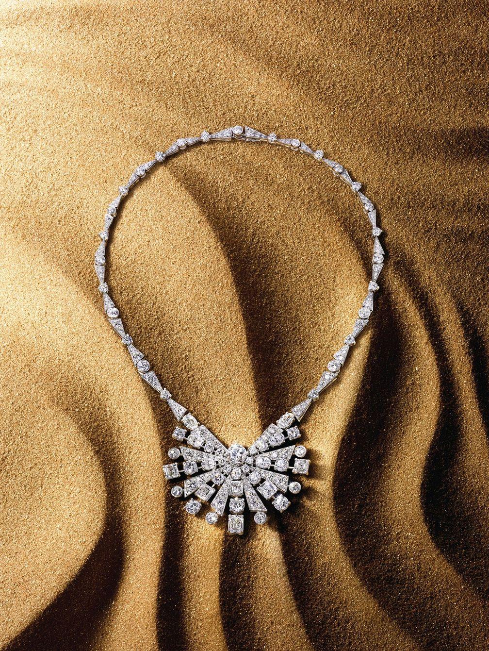 Колье New Dawn из белого золота и платины с бриллиантами из коллекции Tribal от Graff