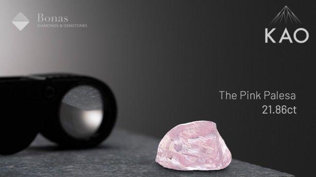 Розовый алмаз Pink Palesa весом 21,86 карата