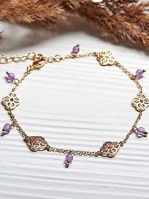 Золотой браслет с аметистом: особенности, как выбрать и носить