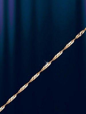 тонкая плетеная цепочка