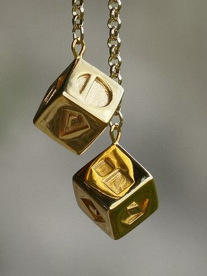 золотые подвески на цепочке