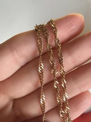 золотая цепочка с плетением