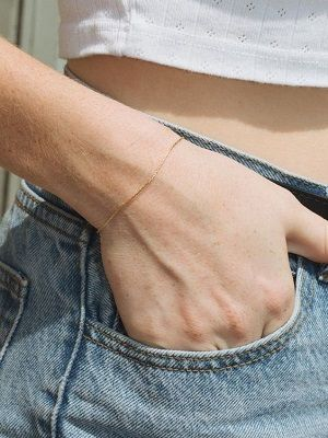 миниатюрный браслет без вставок