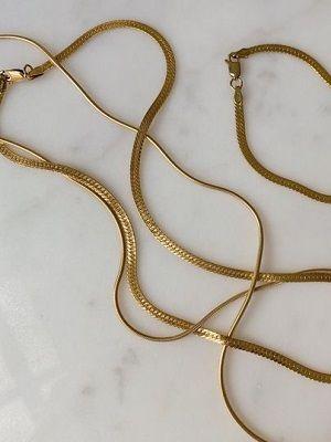 золотая цепочка на шею