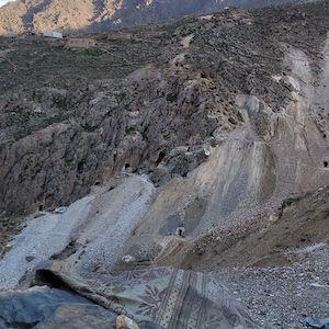Изумрудный рудник в Хендже, районе в провинции Панджшер