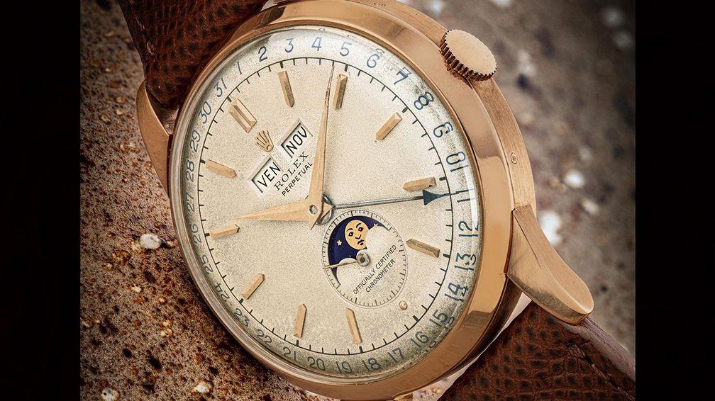Rolex Ref. 8171 «Padellone» из розового золота, один из шести экземпляров с механизмом типа «HL Mark II Officially Certified Chronometer» (от 150 000 до 250 000 долларов)