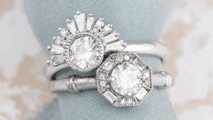 Обручальное кольцо: белое золото или платина?
