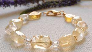 Золотой браслет с цитрином: как выбрать и носить