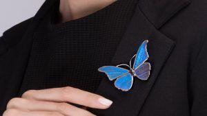 Брошь с крыльями бабочки: особенности выбора украшения