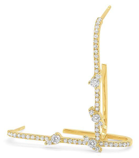 Обручи из 14-каратного золота с бриллиантами, 1435 долларов; бренд KC Designs