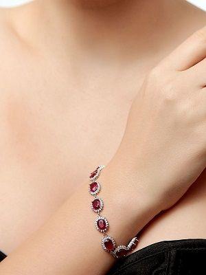 Серебряный браслет с рубинами: особенности, как выбрать и носить