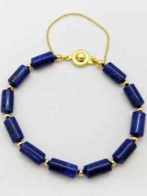 браслет с синими камнями
