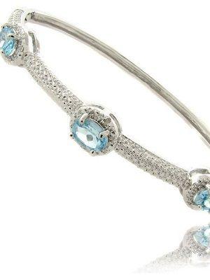 браслет-кольцо с топазами