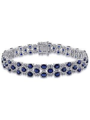 украшение с сапфирами и бриллиантами