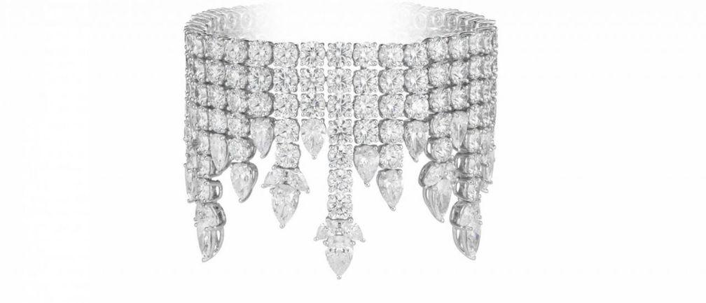 Браслет Green Carpet High Jewellery с бриллиантами грушевидной и бриллиантовой огранки