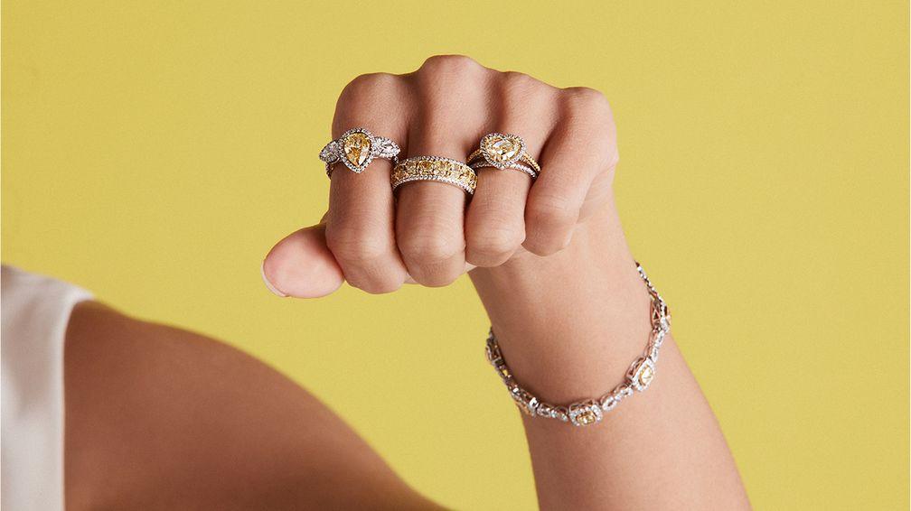 Украшения с желтыми драгоценными камнями от бренда Le Vian