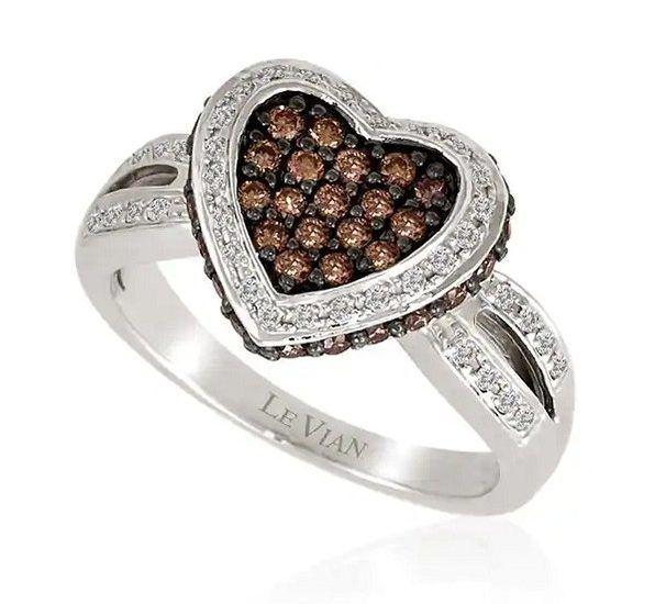 Кольцо с «шоколадными» бриллиантами от бренда Le Vian