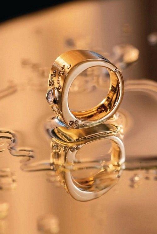Кольцо Splash от JLG из желтого золота с бриллиантами